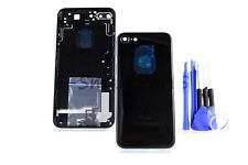 ALLOY METAL BACK COMPLETE HOUSING REPLACEMENT BATTERY COVER iPhone 7 - Jet Black