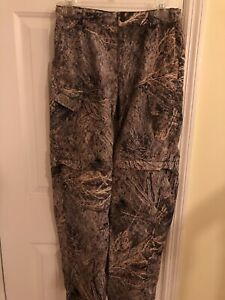 Magellan Deluxe Convertible Cargo Camo Hunting Pants Size L, 14-16
