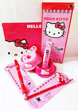 HELLO KITTY Discontinued Cat Kitten Pet Pink Bowls Mat Collar Toys Lot of 8 New