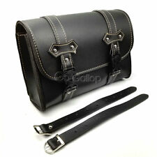 PU Leather Tool Bag Saddlebag For Suzuki Boulevard M109R M90 M95 C50 Intruder VZ
