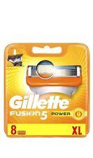 Gillette Männer Fusion5 Power Rasierklingen, 1er Pack (1 x 8 Stück)Original)