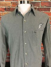 Florida Marlins Gear For Sports Long Sleeve Button Front Casual Shirt size XL