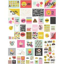 Simple Stories Sn@p Pack - EMOJI LOVE  112 pieces - pocket page scrapbooking