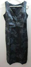 Jacquie E Black Silk Dress Size 6