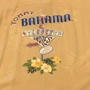 Tommy Bahama - Mens 100% Silk Button Down - Lucky Shores - Hawaiian Size Medium