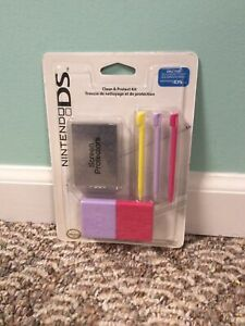 2008 Nintendo DS - Clean And Protect Kit - Stylus - Screen Protectors - NEW