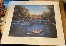 Adriano Manocchia Signed Print By Old Cornwall Bridge Fly Fishing Hudson Valley