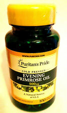 Cold Pressed Evening Primrose Oil 500Mg Natural Source of GLA 100 Pills Softgels