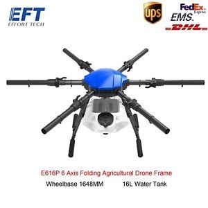 E616P 6 Axis Drone Folding Agricultural Drone Frame Wheelbase 1648MM 16L Tank