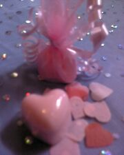 PINK English Rose LUSSO SLS FREE SOAP MINI CUORE favorisce x 10