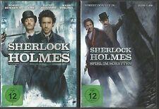 DVD - Sherlock Holmes & Sherlock Holmes 2 Spiel im Schatten (2-DVD`s) #14086