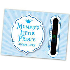 Room Thermometers for  Nursery, Baby and Childrens Room Mummy's Little Prince