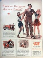 1941 Pontiac Dad Automobile Vintage Advertisement Print Art Car Ad Poster LG70