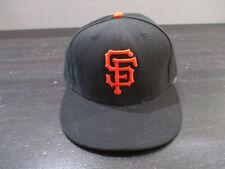 New Era San Francisco Giants Hat Cap Fitted 7 1/4 Black Orange Baseball Mens