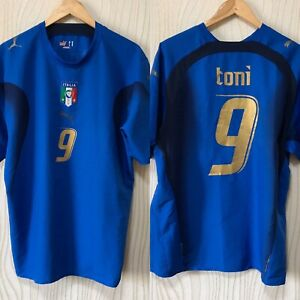ITALY 2006 HOME FOOTBALL SHIRT JERSEY PUMA # 9 TONI