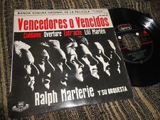 """VENCEDORES O VENCIDOS BSO OST RALPH MARTERIE Y ORQUESTA /+4 EP 7"""" 1962 SPAIN"""