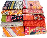Indian Kantha Quilt Handmade Bedspread Cotton Gudari Bedding Throw Blanket 5Pcs