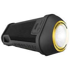 Monster Firecracker Bluetooth Speaker with Built-in LED Flashlight - Black
