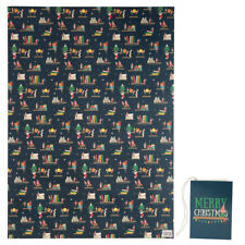 2 x Christmas Elf Single Sheet Wrapping Paper 50 x 70cm with Matching Tags