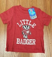NCAA WISCONSIN BADGERS TODDLER SHORT SLEEVE SHIRT SIZE 4T NEW