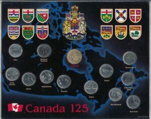 """1992; Kanada Münzen """"125 Jahre Jub. Kanada Staatenbund"""" HP5304"""
