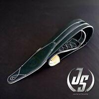 High Quality Genuine Leather Padded Guitar Strap GL-021 Black