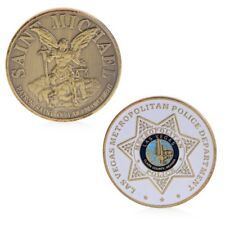 Golden Las Vegas Metropolitan Police Commemorative Coin Challenge Collection Art