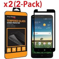 [2-Pack] For ZTE Zmax Pro Z981 FULL COVER Tempered Glass Screen Protector