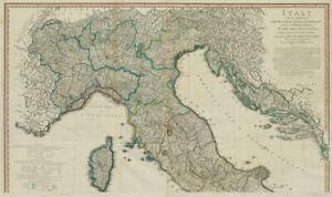 Italy North sheet. Savoie, Dalmatia, Corsica & Nice. DELAROCHETTE/FADEN 1800 map