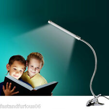 Flexible USB Clip LED Desk Lamp Book Bedside Night Light w/ Clamp For PC Tablet