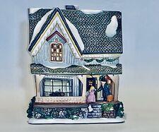 Cute Vintage The Original Snow Village Tea light House For Christmas Decoration