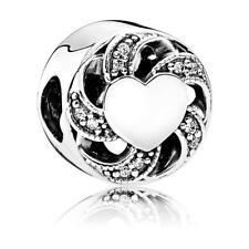 Original Pandora Charm Liebesband Sterling Silber Herz Bead Element 791976CZ