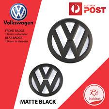 SET OF GRILLE & HATCH MATTE BLACK BADGES FOR GOLF 7 MK7 VW VOLKSWAGEN GTI R