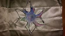 Murano Art Glass Star Burst Starfish Flower Bowl made in italy