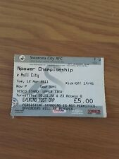 SWANSEA CITY V HULL CITY 11TH APRIL 2011 USED TICKET CHAMPIONSHIP SWANS PROMOTED