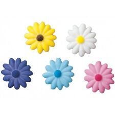 Sugar Decorations Cookie Cake Cupcake Easter Flowers SMALL DAISIES 12 ct.