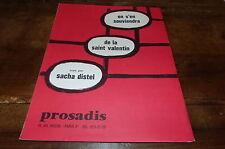 SACHA DISTEL - Partition ON S'EN SOUVIENDRA DE LA ST VALENTIN !!!!!!!!!!!!!