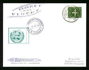 1959 HOLLAND rocket mail card - EZ 79C1c