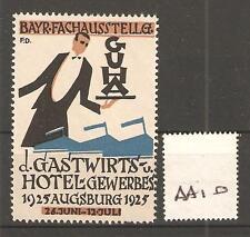 CINDERELLA -AA10- GERMANY - GASTWIRTS HOTEL GEWERBES- AUGSBERG - 1925