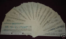 LIONEL HAMPTON ORCHESTRA 20 Signed Tax Forms from 1945