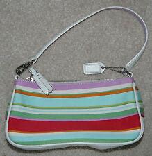 Coach Multi-Stripe Multicolor Hampton Purse Handbag, F10802, Nice!