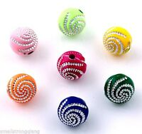 200 pcs mixed color acrylic spacer findings Loose beads charms 8mm