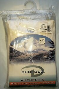 Duofold Authentic Wool Plus Men's Long Sleeve Crew Thermal Size L Large White