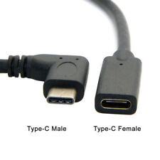 Type-c USB 90 degree Male to USB-C Female Extension OTG Cable Extender CordFBDU