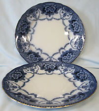 Ford & Sons Flow Blue Douglas Lunch Plate set of 2