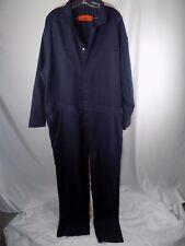 CINTAS Men's 32 x 33 Navy Blue Cotton Long Sleeve Work Coveralls