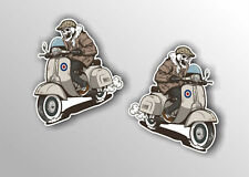 scooter sticker decal WITH MOD TARGET VINYL  CAR VESPA LAMBRETTA #a0000221