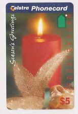 (K70-52) 1995 AU $5 candle used phone card (BA)