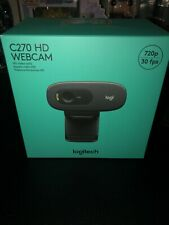 LOGITECH C270 HD Webcam 720p - Black -  SEALED & NEW  Quick Ship