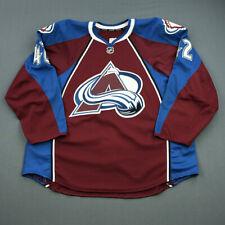 2013-14 Brad Malone Colorado Avalanche Game Issued Reebok Hockey Jersey MeiGray